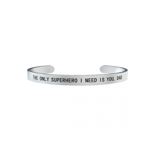 BRACCIALE KIDULT FAMILY THE ONLY SUPERHERO I NEEDIS YOU,DAD 731163